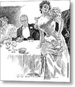 Gibson: Dinner Party Metal Print