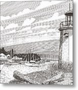 Lighthouse Gig Harbor Entrance Metal Print