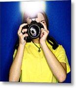 Girl Photographer Metal Print by Lane Erickson