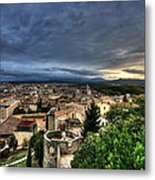 Girona Cityscape Metal Print