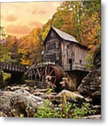 Glade Creek Grist Mill Metal Print