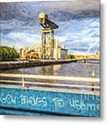 Glasgow Belongs To Us Metal Print