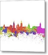 Glasgow Watercolor  Skyline  Metal Print
