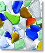 Glass Beach Beach Glass Metal Print