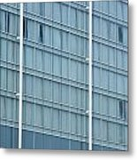 Glasses Cladding Facade Of Modern Architecture As Background Metal Print
