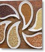 Gluten Free Grain Abstract Metal Print