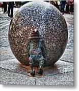 Gnome Statue Wroclaw Poland Metal Print