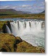 Godafoss Waterfall Metal Print
