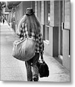 Going Down The Road Metal Print