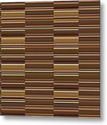 Gold Golden Strips Stripes 36x12 Horizontal Landscape Energy Graphics Background Designs  And Color  Metal Print