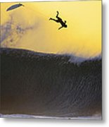 Gold Leap Metal Print