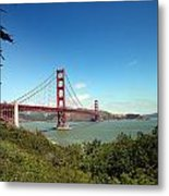 Golden Gate Bridge In San Francisco Metal Print