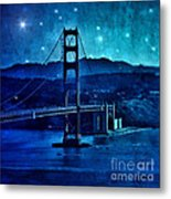 Golden Gate Bridge Night Metal Print