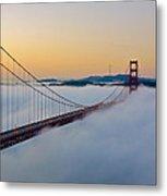 Golden Gate Dawn Metal Print