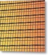 Golden Glass Wall Background  Metal Print
