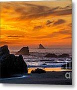 Golden Harris Beach Sunset - Oregon Metal Print