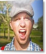 Golf Four And Out Cold Metal Print