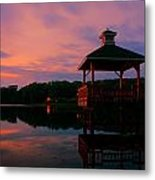 Gorton Pond Sunset Warwick Rhode Island Metal Print