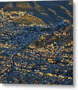 Granada And The Alhambra Metal Print
