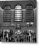 Grand Central Station Bw Metal Print