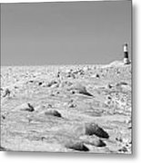 Grand Haven Channel Under Ice Metal Print