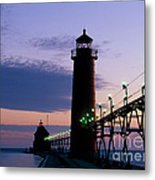 Grand Haven Lighthouse Metal Print