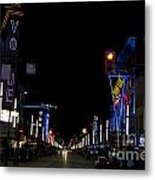 Granville Street At Night Vancouver Metal Print
