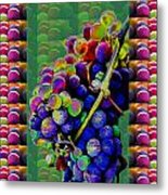 Grapes Fruit Pattern Health Background Designs  And Color Tones N Color Shades Available For Downloa Metal Print