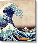 Great Wave Off Kanagawa Metal Print