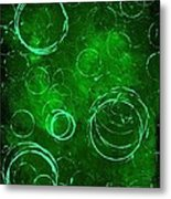Green Bubbles Metal Print