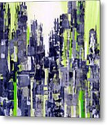 Green City Metal Print