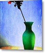 Green Vase Metal Print by Donald Davis