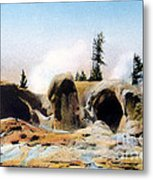 Grotto Geyser Yellowstone Np Metal Print