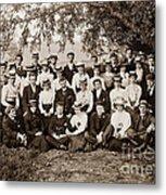 Group Under Tree Metal Print