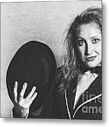 Grunge Photo Of Female Cabaret Performer Metal Print