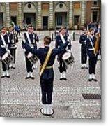 Guards Changing Shifts. Kungliga Slottet.gamla Stan. Stockholm 2 Metal Print