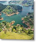 Guatape Lake Metal Print