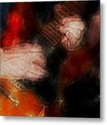 Guitar Traveling Pigments Metal Print