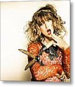Hair Cut With Style Metal Print