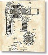 Hair Dryer Patent 1929 - Vintage Metal Print