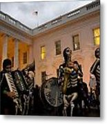 Halloween At The White House Metal Print