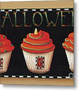 Halloween Cupcakes Metal Print