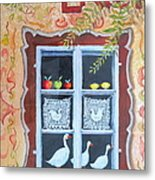 Halstatt Window Metal Print