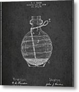 Hand Grenade Patent Drawing From 1884 Metal Print by Aged Pixel
