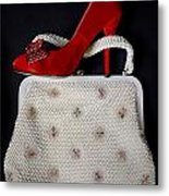 Handbag With Stiletto Metal Print