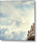 Hands In Sky Metal Print