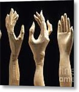 Hands Of Wood Puppets Metal Print