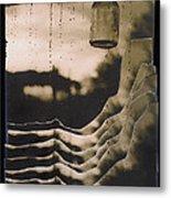 Hanging Bottle Rain Collage Old Tucson Arizona 1967-2012  Metal Print