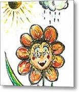 Happy Flower Metal Print