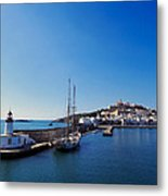 Harbor In Ibiza Town Metal Print